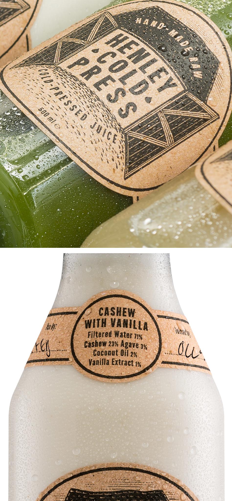 Henley Cold Press Greens & Vanilla Bottles