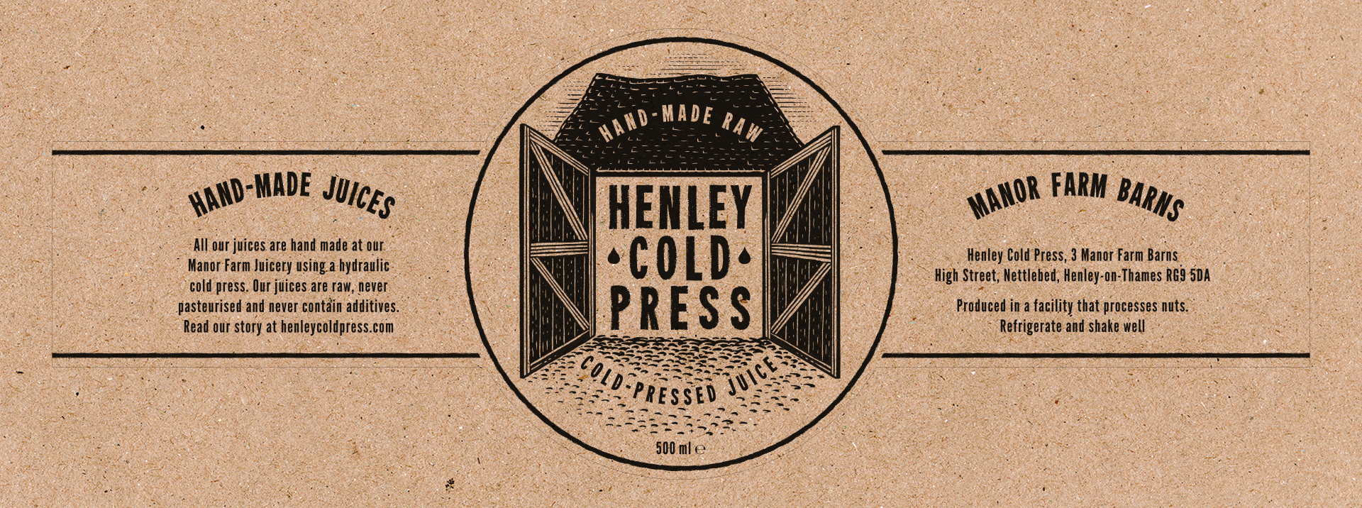 Henley Cold Press Bottle Label