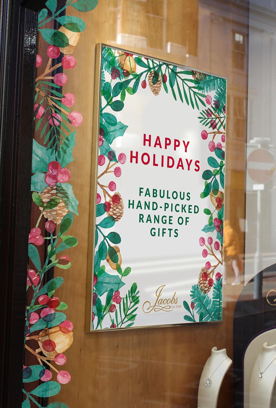 Jacobs Christmas 2019 Windows and Poster