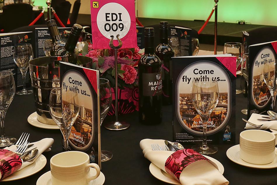 Pride of Reading Awards 2018 Table Branding