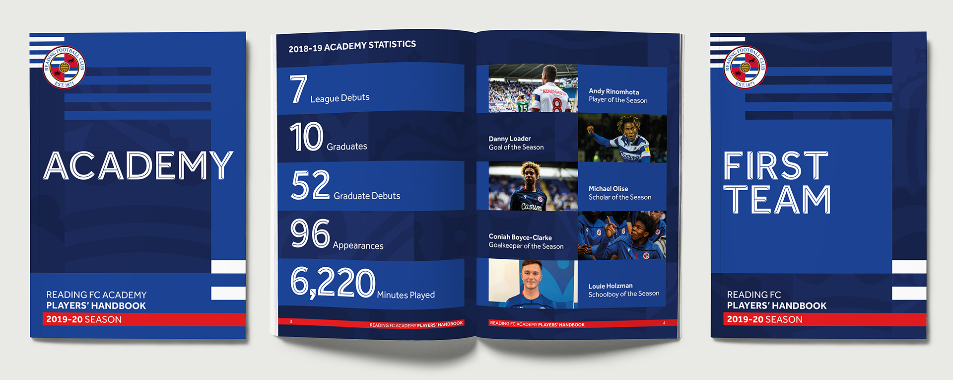 RFC Academy and First Team players' handbooks