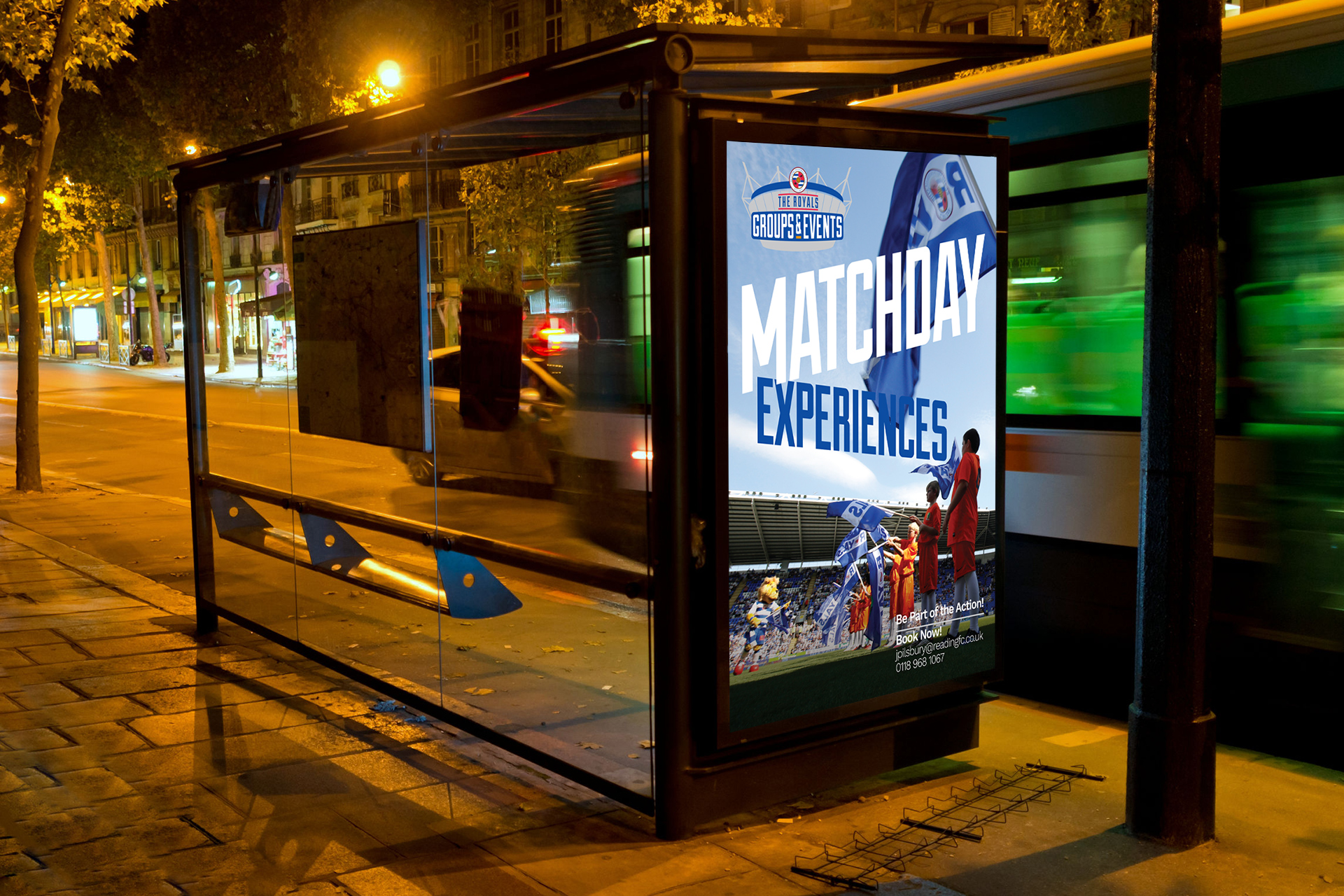 Reading FC Matchday Experience Poster Design