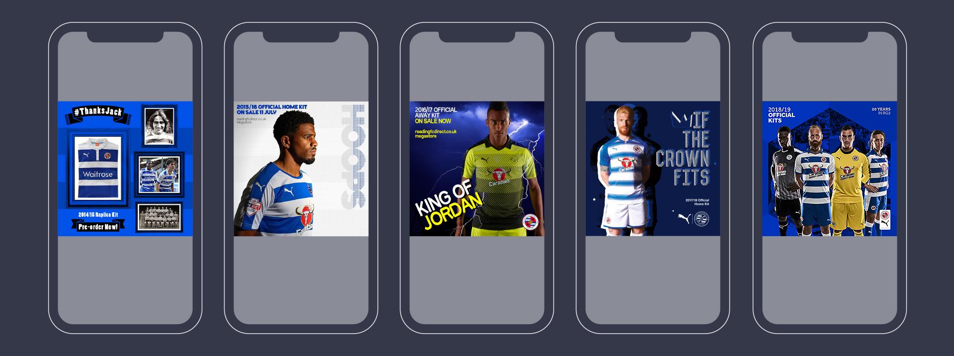 Reading FC Kit Social Media Branding