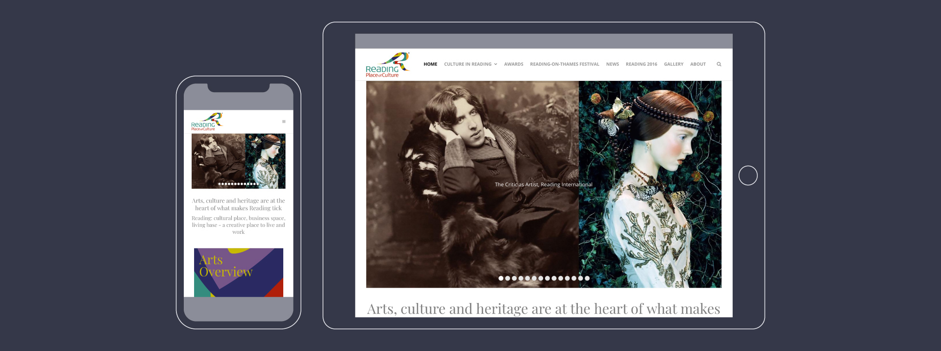 Reading Place of Culture Website Homepages