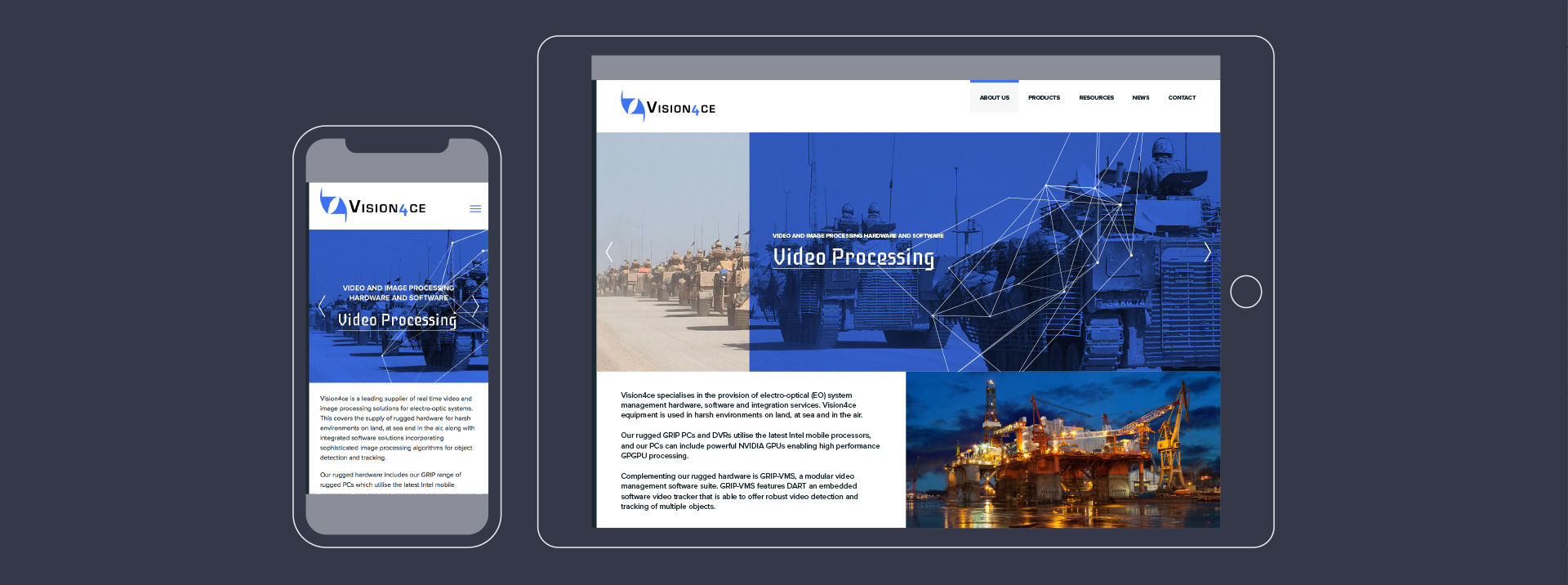 Vision4ce Website Design
