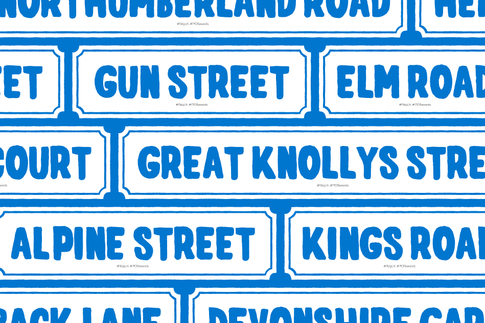 Pride of Reading Awards 2015 Street Names Graphic
