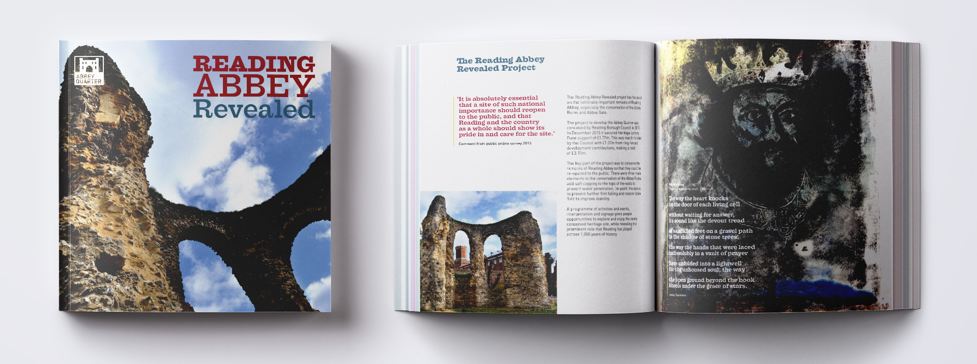 Reading Abbey Revealed Brochure Cover and Spread