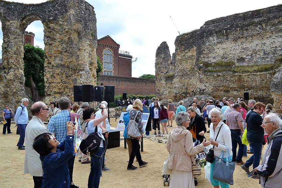 Reading Abbey Revealed Official Re-opening Photo
