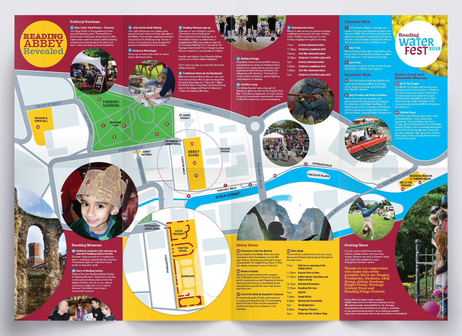Reading Abbey Revealed and Water Fest Souvenir Map and Programme