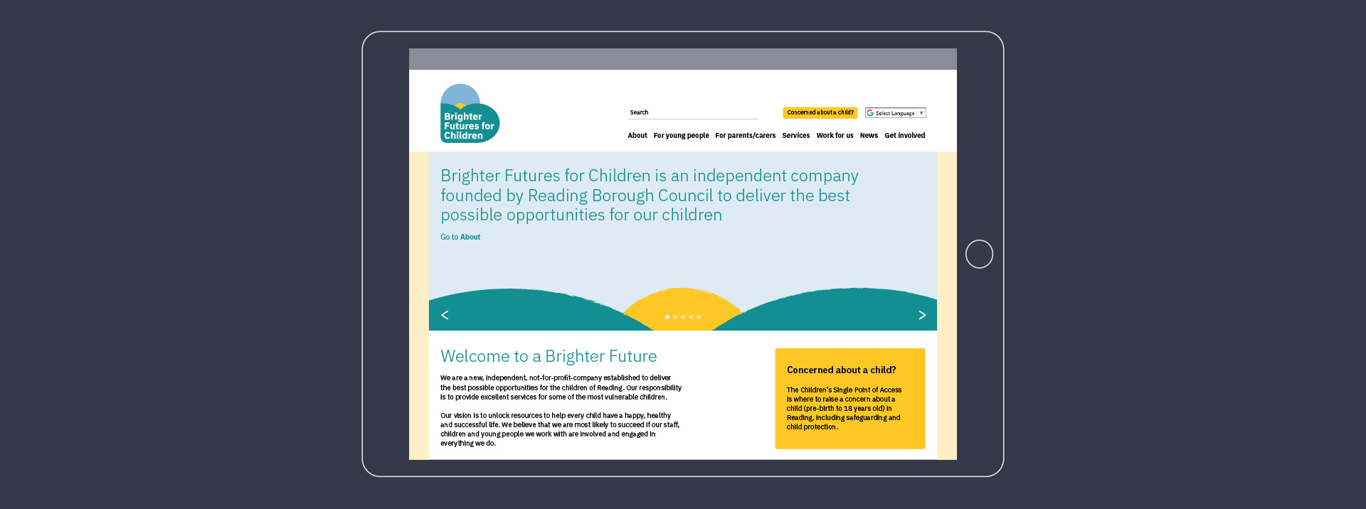 Brighter Futures website design
