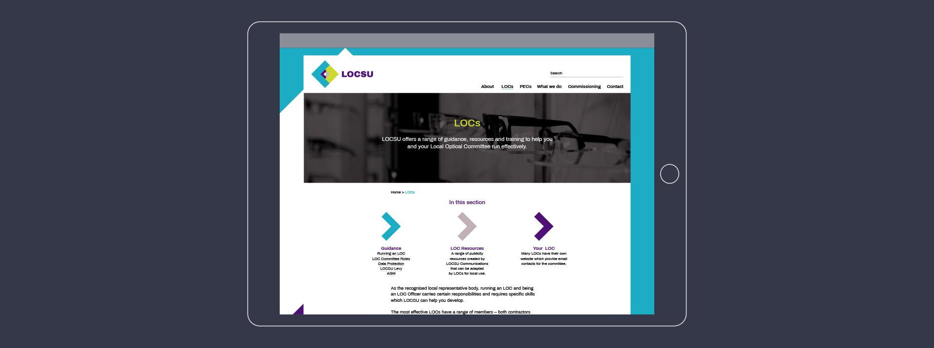 LOCSU website design
