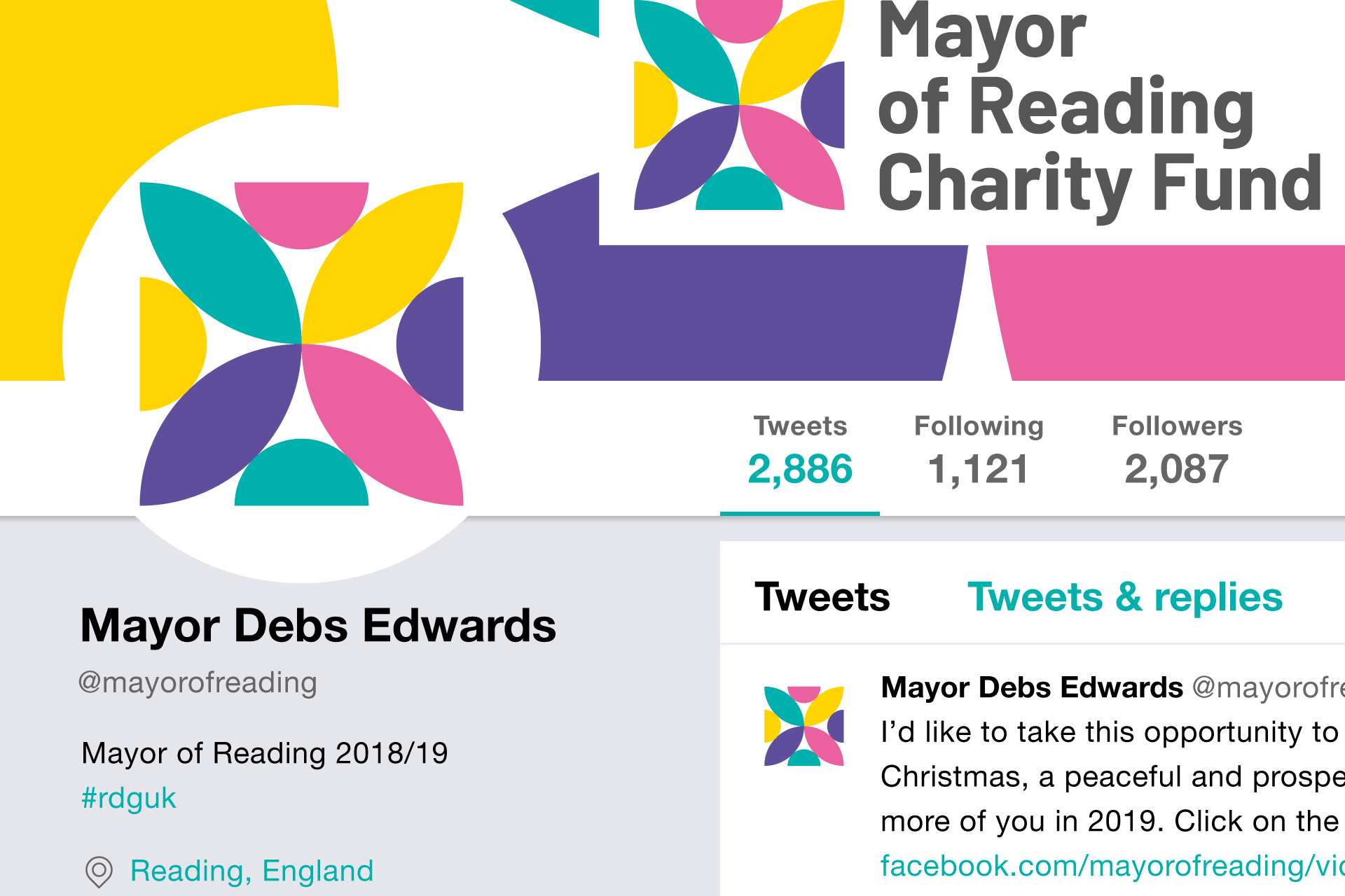 Mayor of Reading Charity Fund Twitter