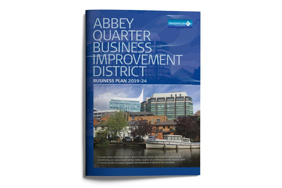 Reading UK BID brochure design