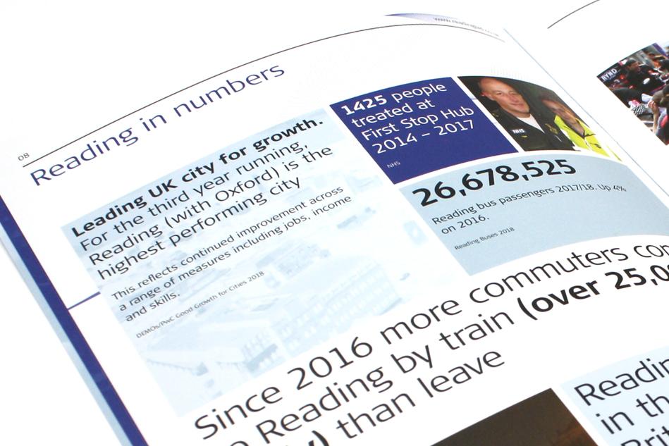 Reading UK BID brochure spread
