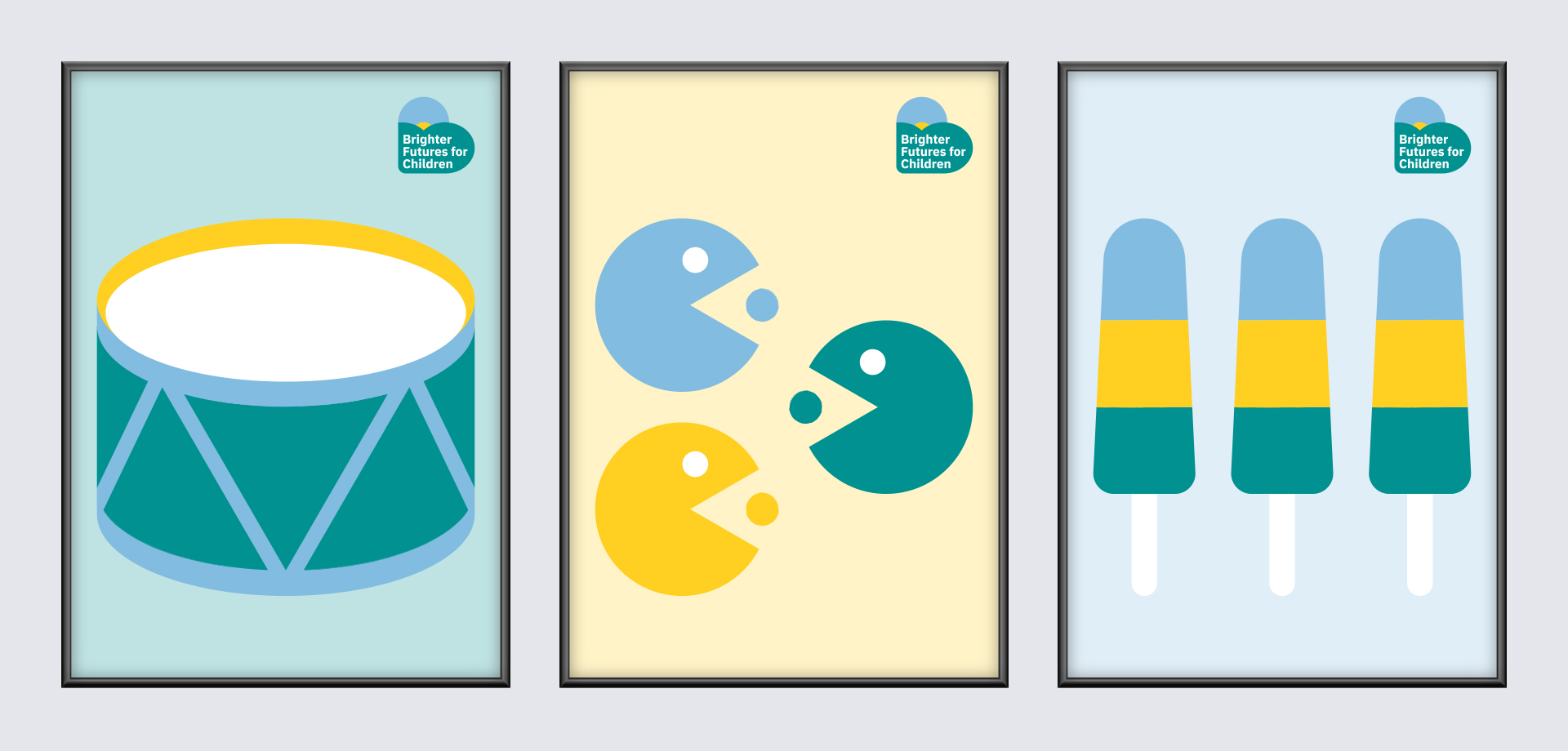 Brighter Futures poster illustrations