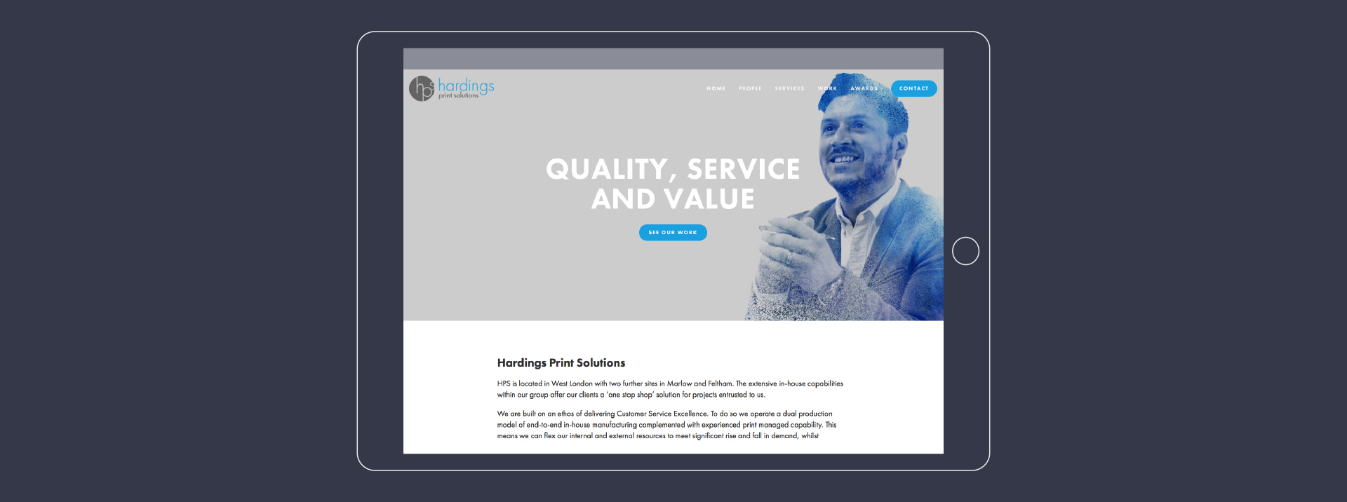 HPS Squarespace Website Design