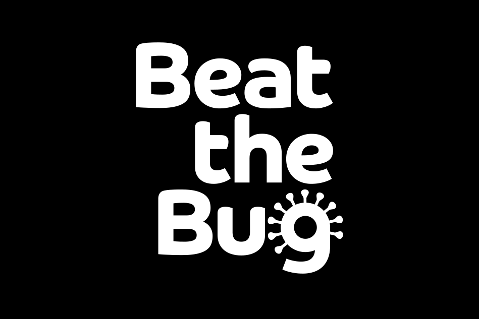 Beat the Bug small black and white logo design