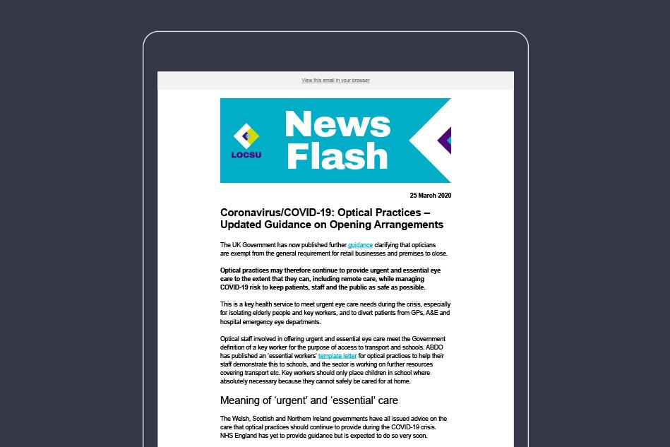 LOCSU Mailchimp newsletter design